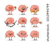 brain cartoon character set ... | Shutterstock .eps vector #1013994799