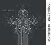 circuit board  digital...   Shutterstock .eps vector #1013995030