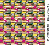 abstract color seamless pattern ... | Shutterstock . vector #1013996758