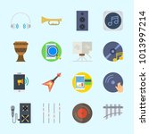 icons about music with compact... | Shutterstock .eps vector #1013997214