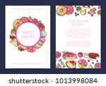 vector hand drawn sweets ... | Shutterstock .eps vector #1013998084