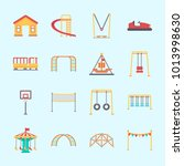 icons about amusement park with ... | Shutterstock .eps vector #1013998630