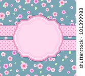 Floral Stylish Vintage Card On...