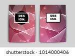 light pink  red vector cover...