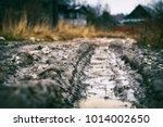 Deep Car Rut On Russian Dirt...