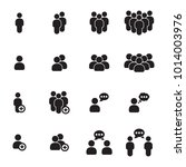 people icons set | Shutterstock .eps vector #1014003976
