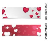 red and grey abstract banners... | Shutterstock .eps vector #1014006550