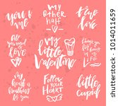 set of valentines day romantic... | Shutterstock .eps vector #1014011659