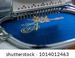 seamstress clothing industry... | Shutterstock . vector #1014012463