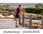 young attractive caucasian... | Shutterstock . vector #1014015076
