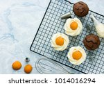 easter egg cupcakes   chocolate ... | Shutterstock . vector #1014016294