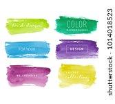 watercolor elements for design   Shutterstock .eps vector #1014018523
