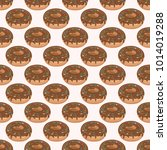 seamless pattern of cute cakes... | Shutterstock .eps vector #1014019288