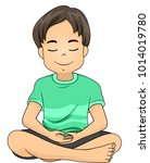 illustration of a kid boy... | Shutterstock .eps vector #1014019780
