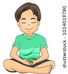illustration of a kid boy... | Shutterstock .eps vector #1014019780