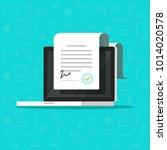 online electronic smart... | Shutterstock . vector #1014020578