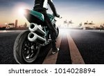 traveling man riding big... | Shutterstock . vector #1014028894