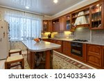 kitchen with appliances and a...   Shutterstock . vector #1014033436