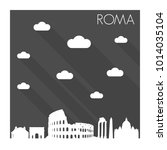 rome italy europe flat icon... | Shutterstock .eps vector #1014035104