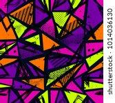 abstract seamless sport pattern ... | Shutterstock .eps vector #1014036130
