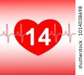 valentines day celebration card.... | Shutterstock . vector #1014038698
