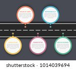 road infographics with five... | Shutterstock .eps vector #1014039694