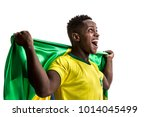 brazilian afro male athlete  ... | Shutterstock . vector #1014045499