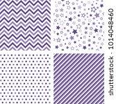 ultra violet seamless patterns. ... | Shutterstock .eps vector #1014048460