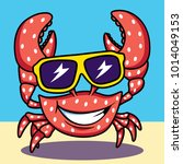 Crab With Sunglasses Clipart