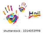 Holi Festival Background With...