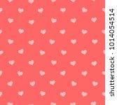 heart on pink background sweet... | Shutterstock .eps vector #1014054514