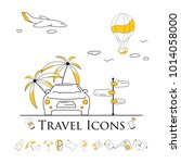 summer vacation and leave... | Shutterstock .eps vector #1014058000