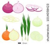 onion. set of fresh vegetables. ...