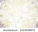 seamless floral background with ... | Shutterstock .eps vector #1014058876