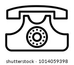 telephone vector icon | Shutterstock .eps vector #1014059398