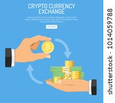 crypto currency technology... | Shutterstock .eps vector #1014059788