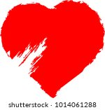 set of hearts . grunge stamps... | Shutterstock .eps vector #1014061288