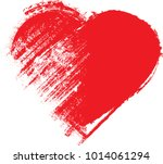 set of hearts . grunge stamps... | Shutterstock .eps vector #1014061294