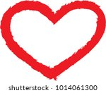 set of hearts . grunge stamps... | Shutterstock .eps vector #1014061300