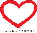 set of hearts . grunge stamps... | Shutterstock .eps vector #1014061300