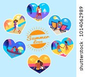 summer love memory photos of... | Shutterstock .eps vector #1014062989