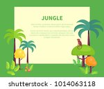 jungle banner with place for... | Shutterstock .eps vector #1014063118