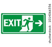 fire emergency exit sign icon... | Shutterstock .eps vector #1014066556