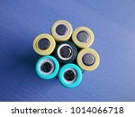 Small photo of Lithium Li-Ion Rechargeable Batteries in different light and colours