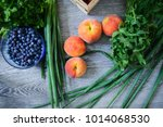 fresh vegetables and fruits... | Shutterstock . vector #1014068530