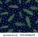 seamless pattern of pine... | Shutterstock .eps vector #1014068644