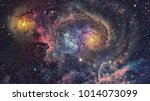 galaxy and nebula. abstract... | Shutterstock . vector #1014073099