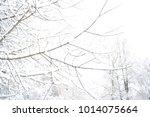 russian nature  winter forest... | Shutterstock . vector #1014075664