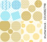 set japanese patterns... | Shutterstock .eps vector #1014082798