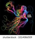 moving colorful lines of... | Shutterstock .eps vector #1014086509
